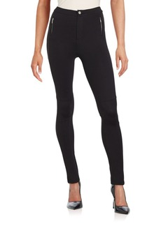 Saks Fifth Avenue Solid Skinny-Fit Pants
