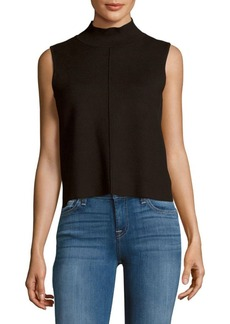 Saks Fifth Avenue Solid Sleeveless Cropped Top