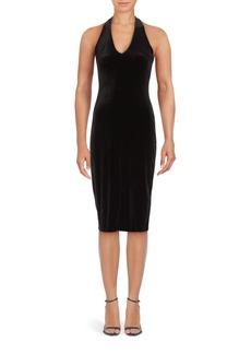 Saks Fifth Avenue Solid Velvet Sheath Dress