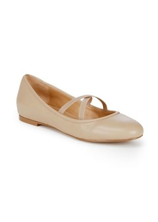 Saks Fifth Avenue Strap Front Ballet Flats