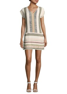 Saks Fifth Avenue Striped Cap-Sleeve Dress