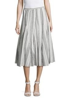 Saks Fifth Avenue BLUE Striped Flared Skirt