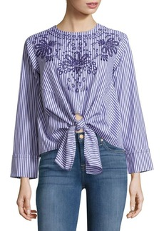 Saks Fifth Avenue Striped Floral Blouse