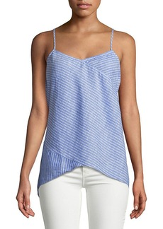 Saks Fifth Avenue Striped Linen Tank Top