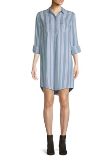 Saks Fifth Avenue Striped Long-Sleeve Shirtdress