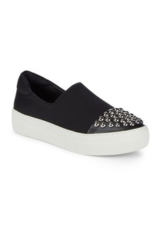Saks Fifth Avenue Studded Slip-On Flatforms