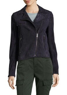 Saks Fifth Avenue BLACK Suede Moto Jacket