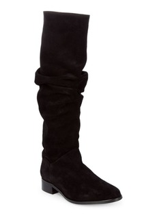 Tall Almond Toe Suede Boots
