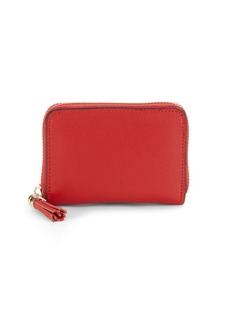 Saks Fifth Avenue Tasseled Leather Zip-Around Wallet