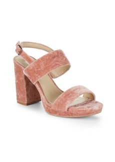 Saks Fifth Avenue Tatiana Velvet Block Heels