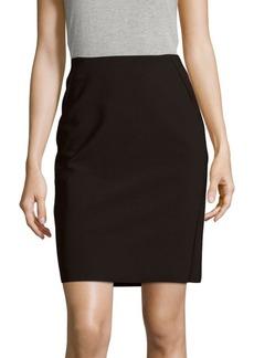 Saks Fifth Avenue BLACK Tech Stretch Solid Pencil Skirt