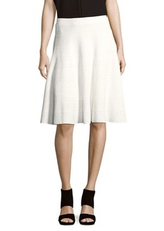 Saks Fifth Avenue BLACK Textured A-Line Skirt