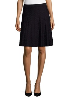 Saks Fifth Avenue Textured Flare Skirt