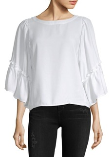 Saks Fifth Avenue Three-Quarter Bell-Sleeve Top
