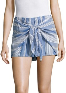 Saks Fifth Avenue RED Tie Front Striped Shorts