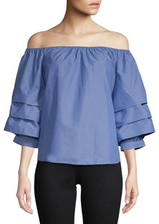 Saks Fifth Avenue Tier Off-Shoulder Top