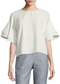 Saks Fifth Avenue Tiered-Sleeve Blouse