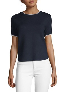 Saks Fifth Avenue Tipped Knit T-Shirt