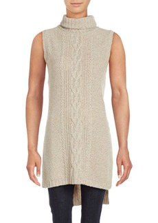 Saks Fifth Avenue BLUE Turtleneck Wool Blend Sweater