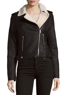 Saks Fifth Avenue Two-Pocket Asymmetric Moto Jacket