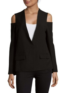 Saks Fifth Avenue V-Neck Cold-Shoulder Jacket