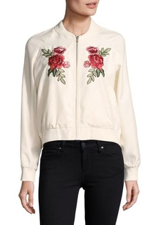 Saks Fifth Avenue Varis Embroidered Bomber Jacket