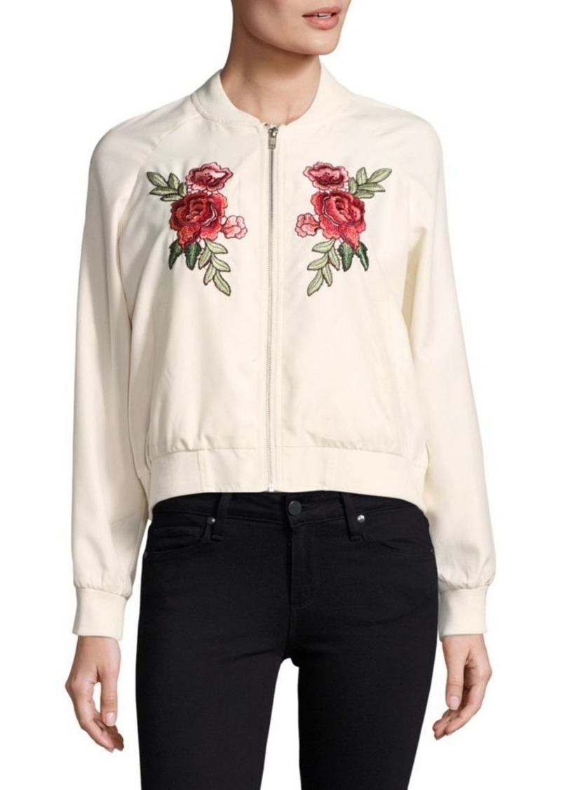 Saks Fifth Avenue RED Varis Embroidered Bomber Jacket
