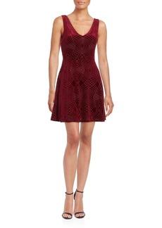 Saks Fifth Avenue Velvet Burnout Skater Dress