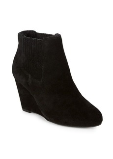 Saks Fifth Avenue Willa Wedge Faux Fur Lined Ankle Boots