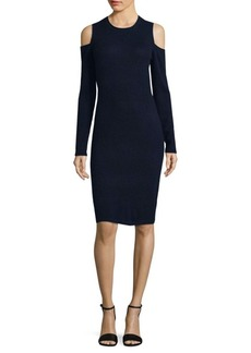 Saks Fifth Avenue Wool and Cashmere Cold Shoulder Dress
