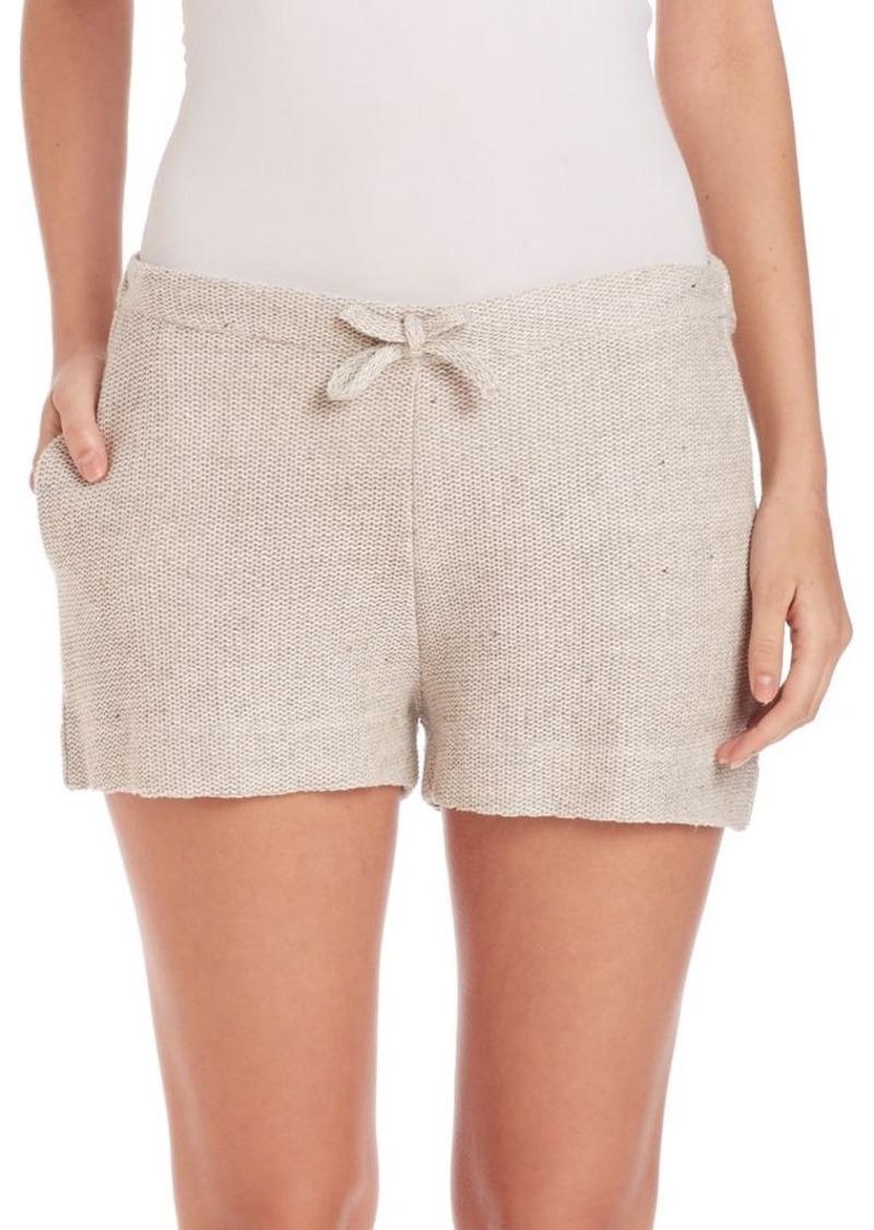 Saks Fifth Avenue x Majestic Filatures Knit Linen & Cotton Shorts