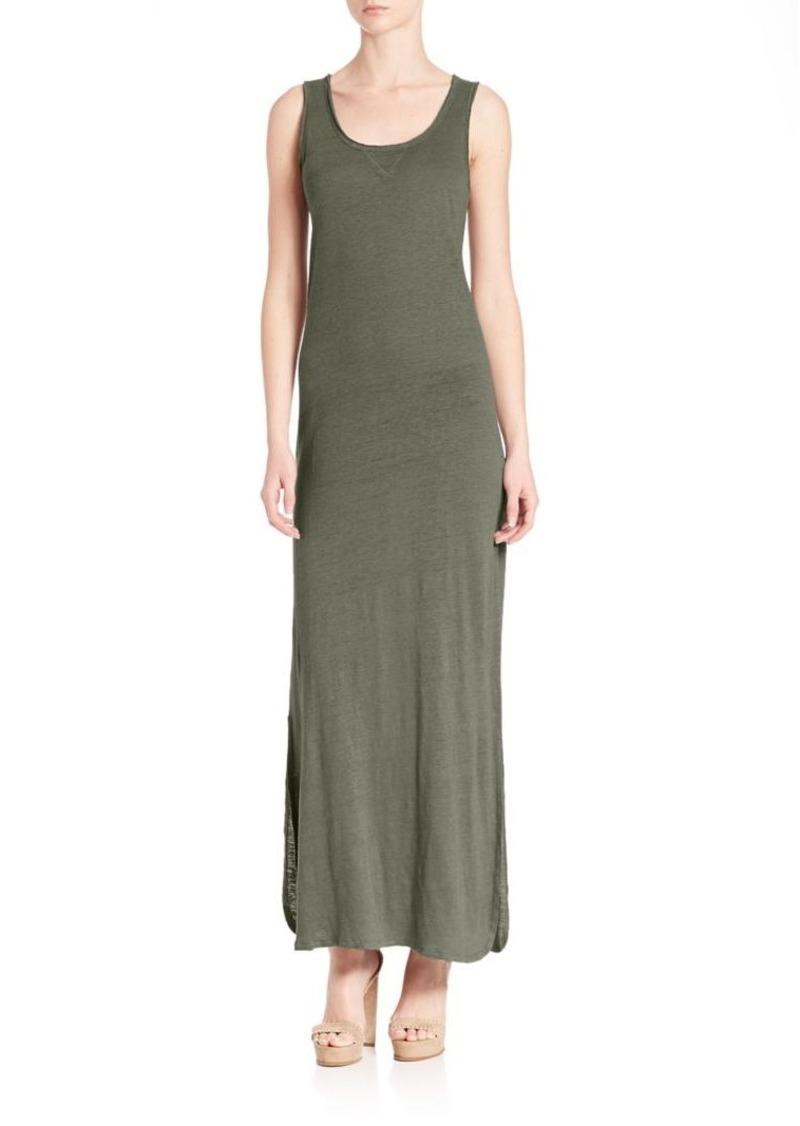 Saks Fifth Avenue x Majestic Filatures Linen & Silk Maxi Dress