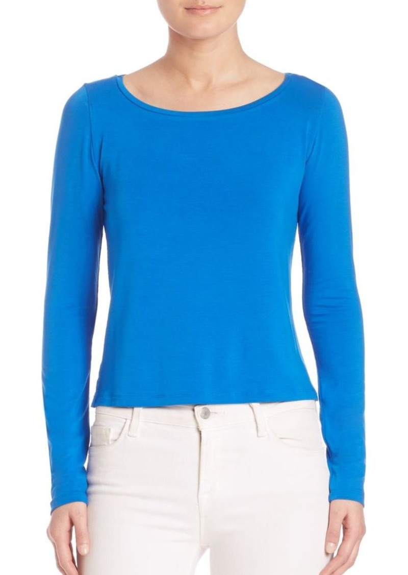 Saks Fifth Avenue x Majestic Filatures Soft Touch Cropped Tee