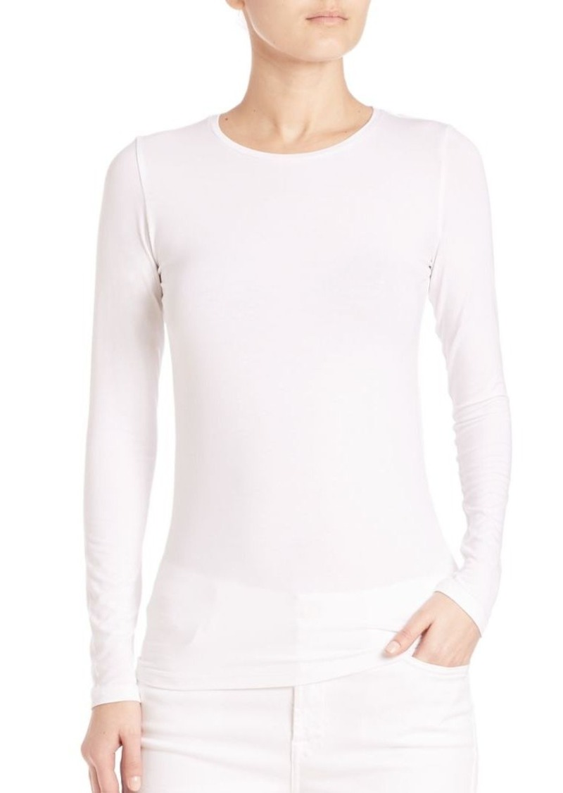 Saks Fifth Avenue x Majestic Filatures Soft Touch Long-Sleeve Tee