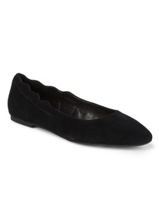 Saks Fifth Avenue Zabe Suede Ballet Flats