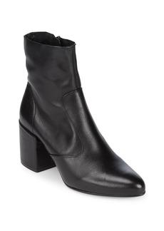 Saks Fifth Avenue Zip Leather Booties