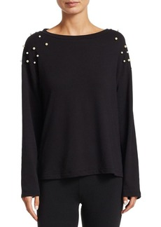 Saks Fifth Avenue COLLECTION Allie Embellished Long Sleeve Top