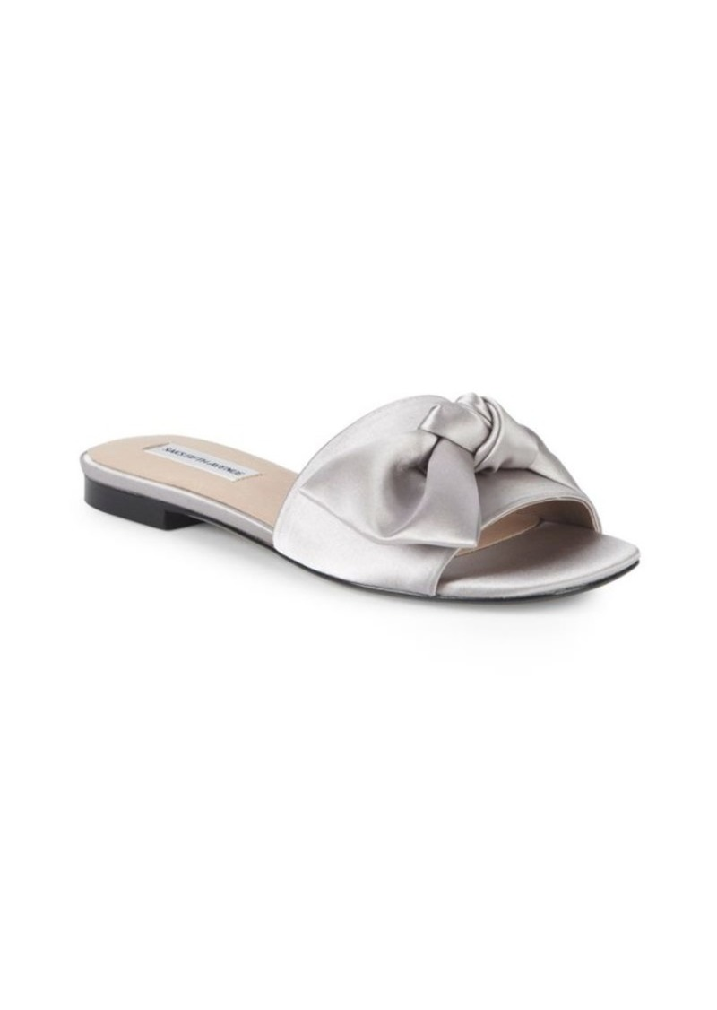 Saks Fifth Avenue Satin Flat Sandals