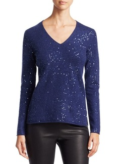 Saks Fifth Avenue Sequined Cashmere Sweater
