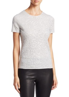 Saks Fifth Avenue Sequined Cashmere Tee