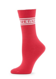 Saks Fifth Avenue COLLECTION She Bad Ribbed Socks