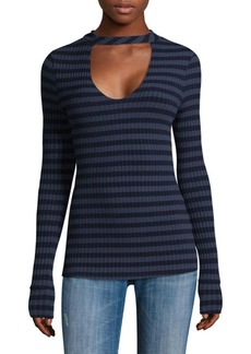 Saks Fifth Avenue Sherbrooke Stripe Long-Sleeve Tee