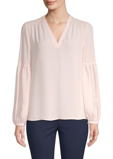 Saks Fifth Avenue Shirred Balloon-Sleeve Blouse