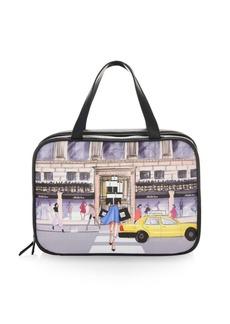 Saks Fifth Avenue Shopaholic Leather Travel Case