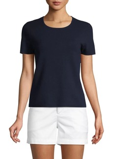 Saks Fifth Avenue Short-Sleeve Cotton Blend Tee