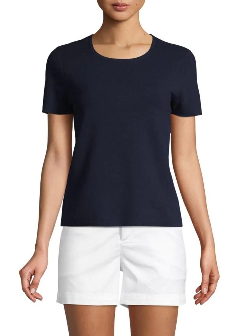 Saks Fifth Avenue Short-Sleeve Cotton Blend Tee
