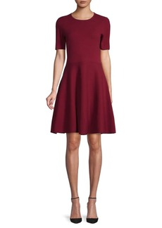 Saks Fifth Avenue Short-Sleeve Cotton Fit-&-Flare Dress