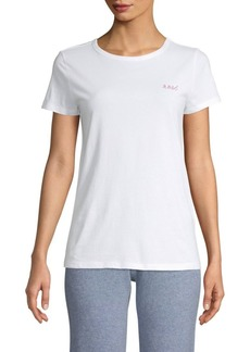 Saks Fifth Avenue Short-Sleeve Embroidered Cotton Tee