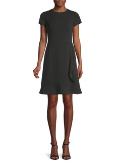 Saks Fifth Avenue Short-Sleeve Mini Crepe Dress