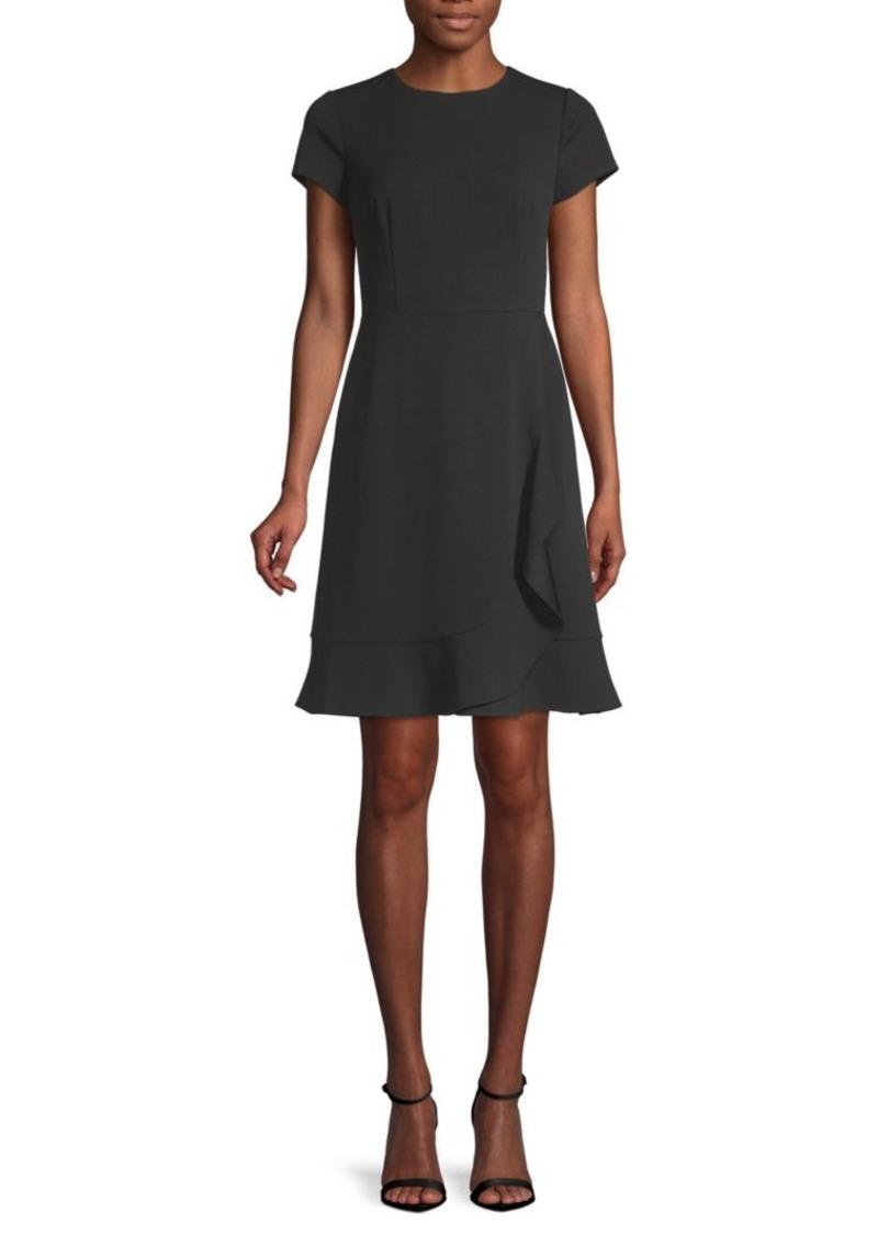 Saks Fifth Avenue Short-Sleeve Mini Crepe Dress